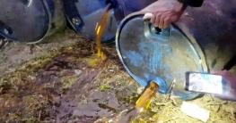 ভূয়াপুরে জাহাজের পোড়া মবিলকে বিদেশি সরিষা তেল বলে বিক্রি!