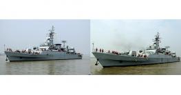 চীন থেকে দেশে পৌঁছেছে বাংলাদেশের নৌবাহিনীর দুটি যুদ্ধজাহাজ