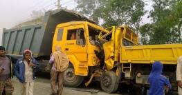 ভুঞাপুরে দুই ট্রাকের মুখোমুখি সংঘর্ষে ৫ জন আহত