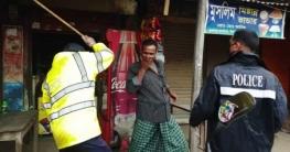 ভুয়াপুরে সামাজিক দূরুত্ব বজায়ে পুলিশি এ্যাকশন