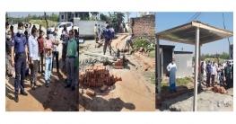 মির্জাপুরে সরকারি রাস্তা থেকে অবৈধ স্থাপনা উচ্ছেদ