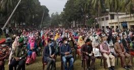 বঙ্গবন্ধুর ভাস্কর্য ভাঙ্গার প্রতিবাদে নাগরপুরে প্রতিবাদ সমাবেশ