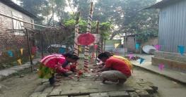 দেলদুয়ারের উঠানে-উঠানে শিশুদের শহীদ মিনার