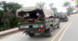মির্জাপুরে কঠোর লকডাউন কার্যকর করতে সেনাবাহিনীর টহল