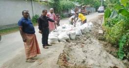 অবশেষে কাজিপুর পৌরসভার রাস্তার সংস্কার কাজ শুরু