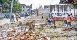 গাইবান্ধা জেলা শহরের যানজট নিরসনে বাস্তবায়িত হচ্ছে ফোরলেন প্রকল্প