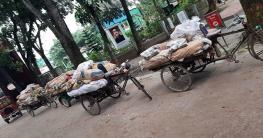 বকশীগঞ্জে অবৈধ পলিথিন সংরক্ষণ করার দায়ে ৫০ হাজার টাকা জরিমানা