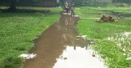 উল্লাপাড়ায় বৃষ্টির পানির জলাবদ্ধতার দুর্ভোগে শত শত মানুষ